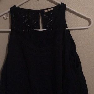 Off the shoulder, dark blue top. Never worn